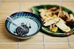 Herbal medicine ingredients and acupuncture needles